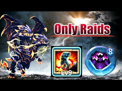 Demogorgon | 9/9 Stone Skin | 8 Wicked Armor | Only Raids | GamePlay | Castle Clash
