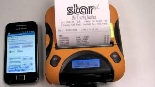 Samsung Galaxy printng receipt via Bluetooth - STAR T301 Bluetooth Mobile Printer