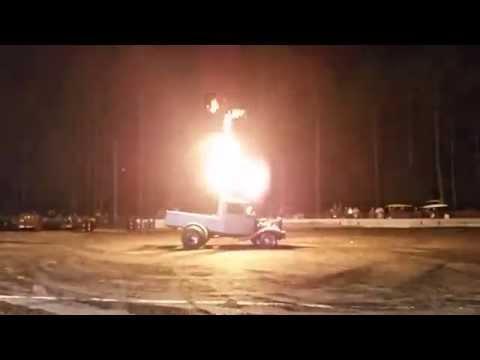 Atomic Blast Rat Rods Burnout 2015 Gulfport Dragway