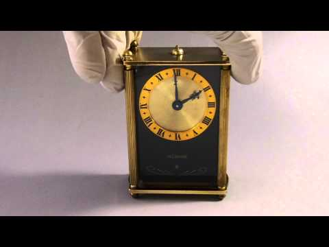 Reuge music box Swiss Le Coultre Musical 8 day Alarm Clock