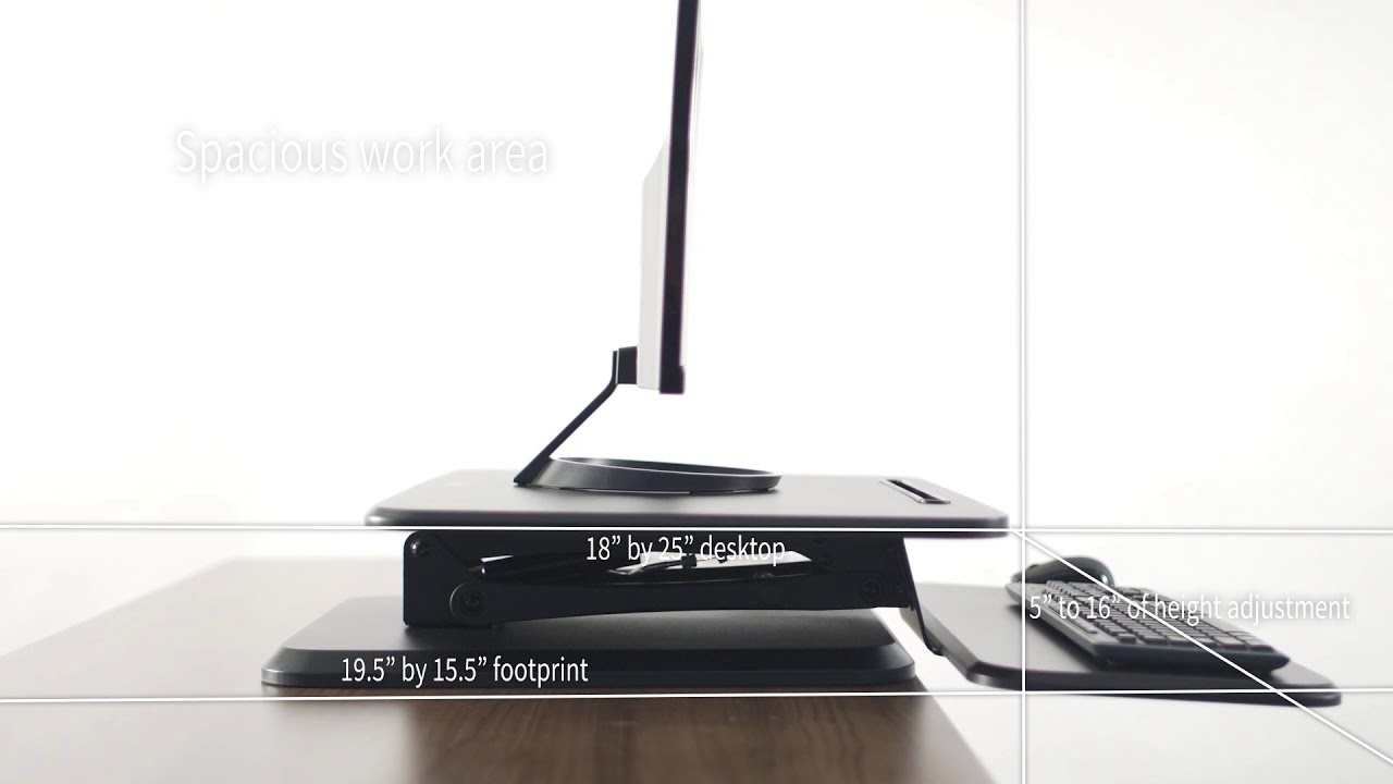 Desk V001g 2 Tier Desk Converter By Vivo Youtube