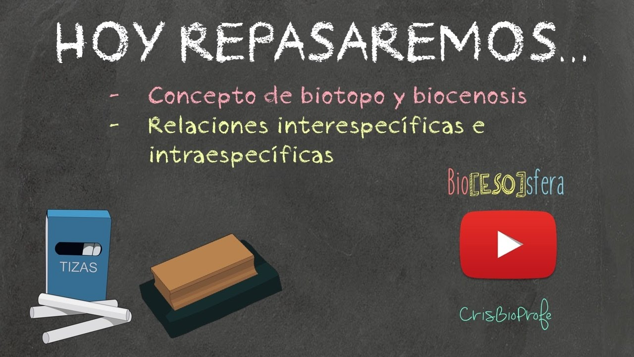 Hoy repasamos... ECOSISTEMAS - Biotopo y biocenosis. Relación inter y intra - Bio[ESO]sfera