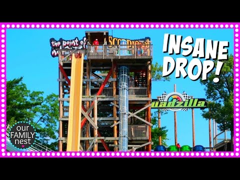 Insane Free Fall Water Slide | Road Trip Day Three