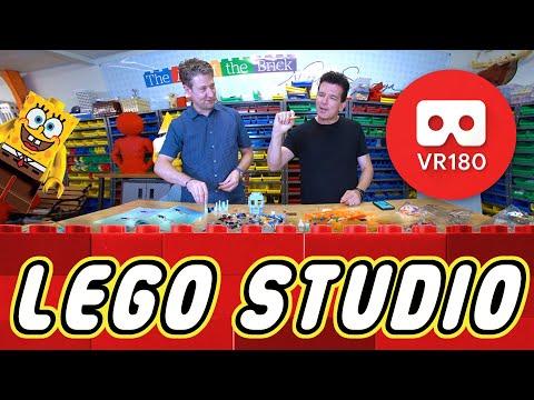 Insane LEGO Studio Tour in VR180 (+Spongebob Speed Build Challenge) | Butch Hartman