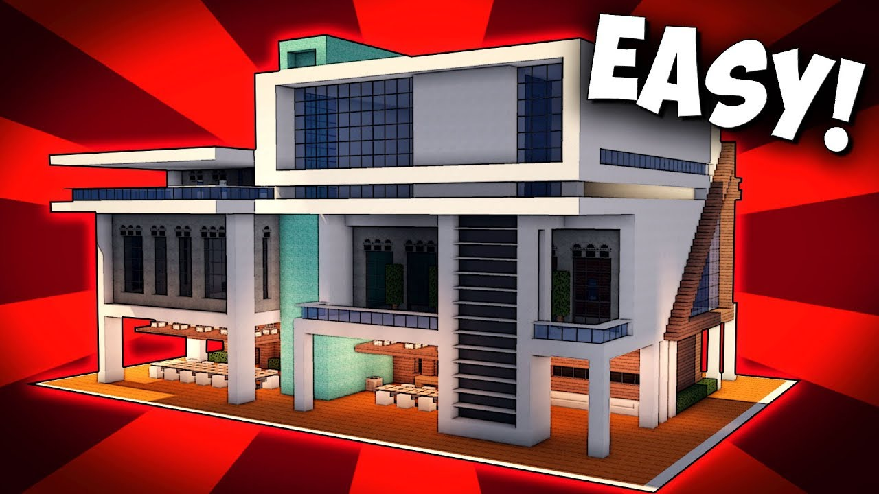 Minecraft how to build a large modern house modern for Big modern house tutorial