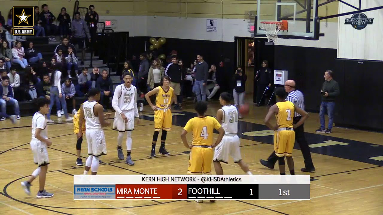 Boys Basketball Mira Monte At Foothill Youtube