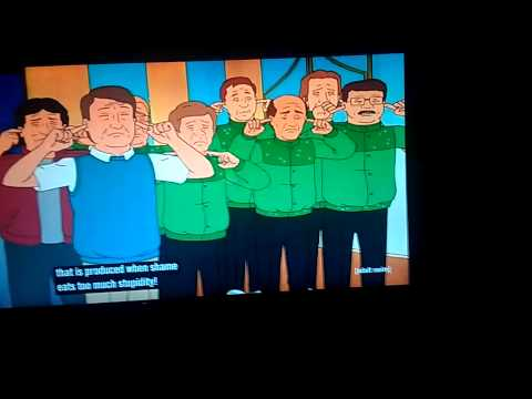 King of the hill (Dale insulting Bill)