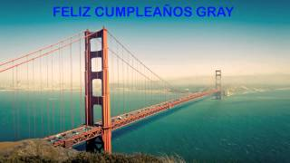 Gray   Landmarks & Lugares Famosos - Happy Birthday