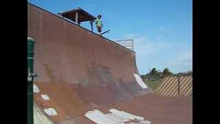 4 Year Old Drops Into 12 Foot Vert Half Pipe