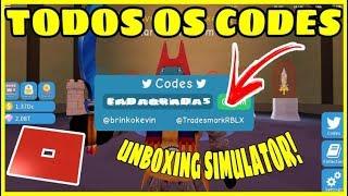 TODO OS CODES DE UNBOXING SIMULATOR! Roblox