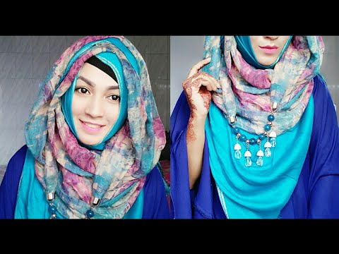 Eid Special Hijab Style With Necklace Hijab Ft Styline Collection   Pari ZaaD ❤