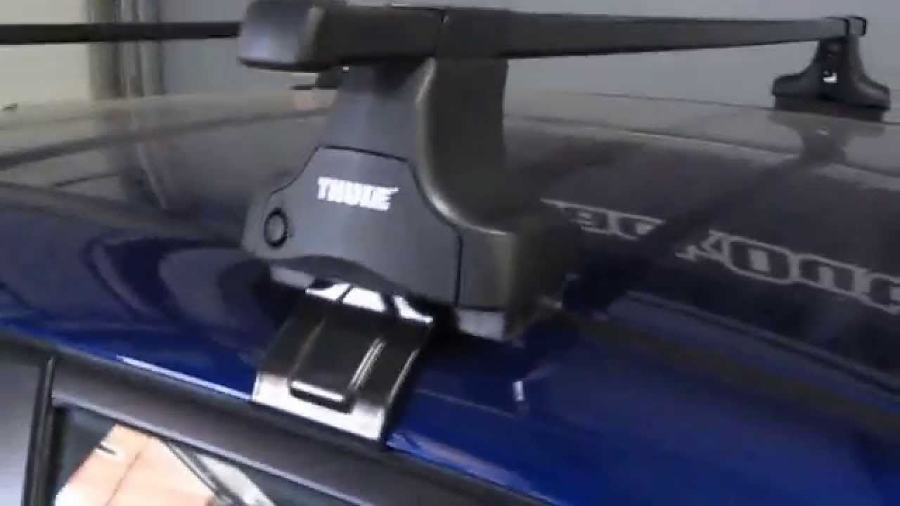 Honda Fit with Thule 480 Traverse Base Roof Rack by Rack