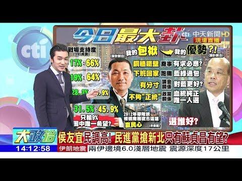 2017.12.12大政治大爆卦完整版 侯友宜「民調高」!民進黨搶新北「只有蘇貞昌有望」?
