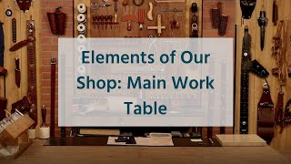 The Leather Element: Eleṁents of Your Shop - Main Work Table