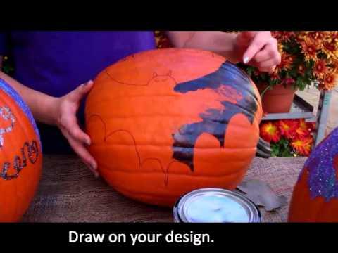 Create Colorful Painted Pumpkins