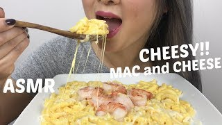 CHEESY MAC and CHEESE | *NO TALKING ASMR Eating Sounds | N.E Lets Eat