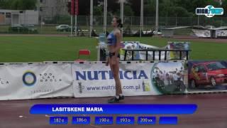 Мария Кучина Ласицкене 2.00м. Митинг рекорд ( Ополе 04.06.2017)