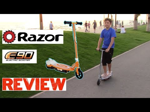 ЭЛЕКТРОСАМОКАТ RAZOR E90 Electric Scooter Review Обзор ЭЛЕКТРО САМОКАТ