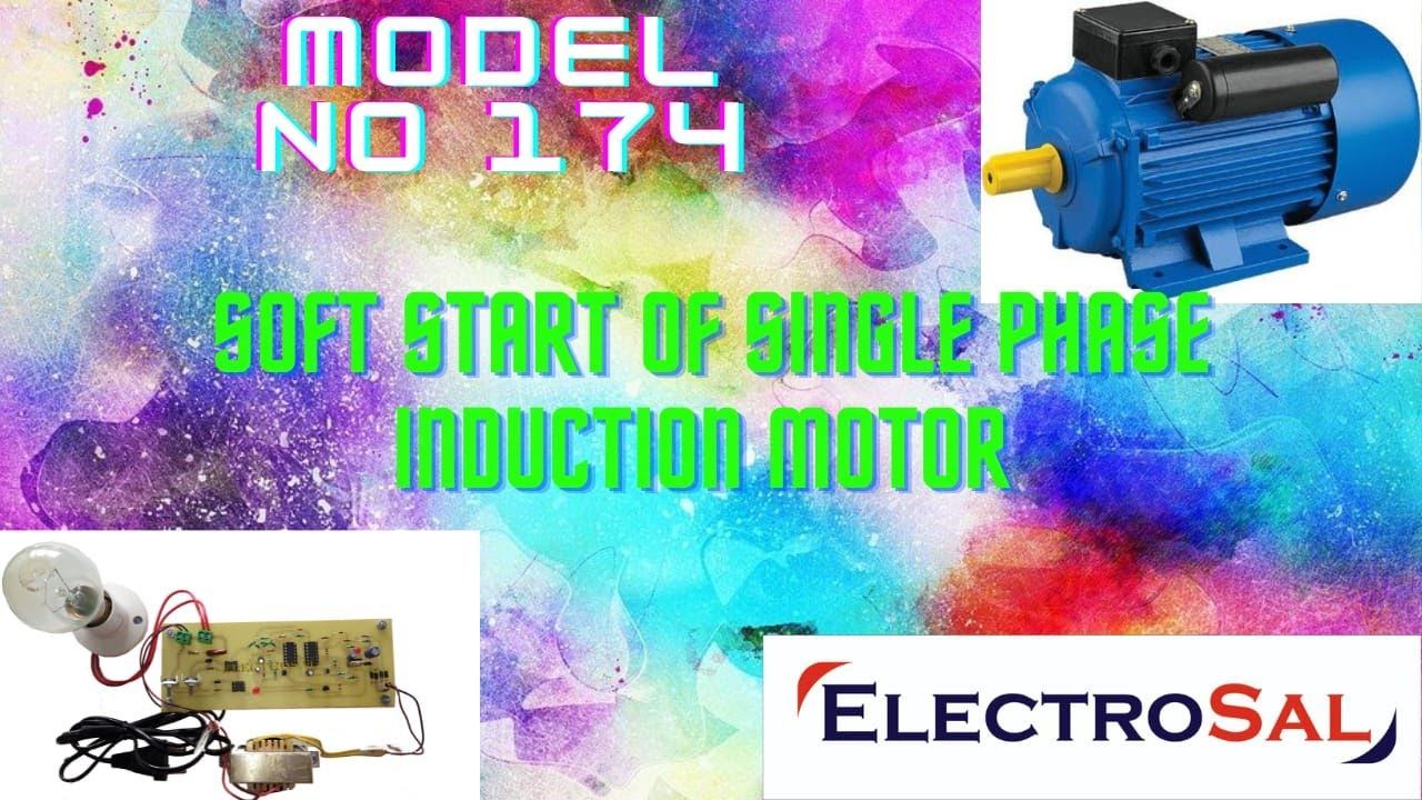 Soft start of single phase induction motor youtube for Single phase motor soft starter