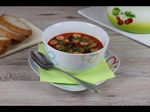 Фасолевый Фасолевый суп с сосисками