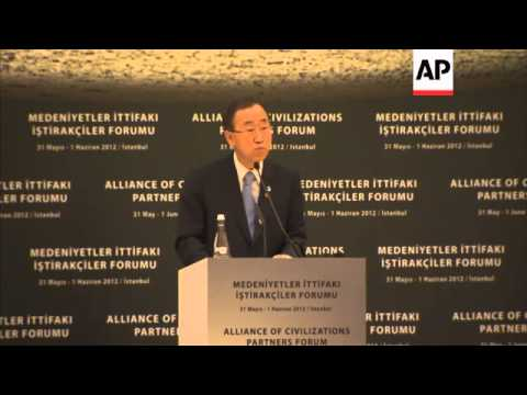 BAN KI-MOON AND PRIME MINISTER ERDOGAN COMMENT ON SYRIA