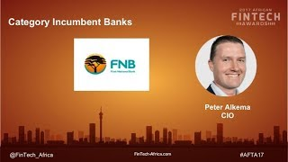 2017 African FinTech Awards:  Peter Alkema (CIO, FNB)