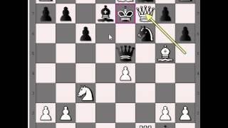 Evo kako je igrao Danski gambit - BLACKBURNE vs NN # 362