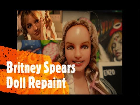 Britney Spears Doll Repaint Custom Youtube