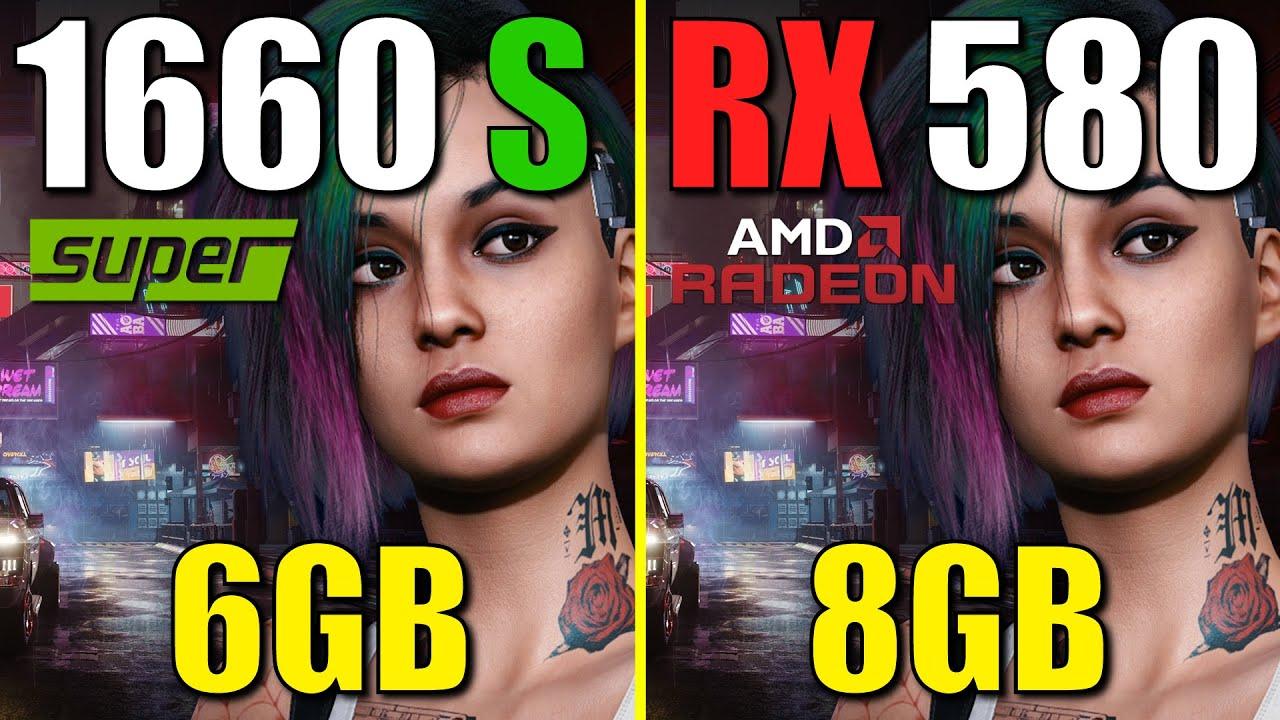 RX 580 vs. GTX 1660 Super, in 2021