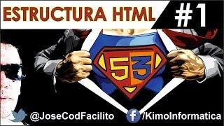 Tutorial de HTML5 + CSS3 - 1 - Estructura HTML