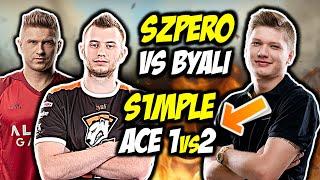 """SZPERO VS BYALI!!! S1MPLE """"WRACA DO FORMY"""" ACE CLUTCH 1vs2, CLUTCH 1vs5 W FPL-u - CSGO BEST MOMENTS"""
