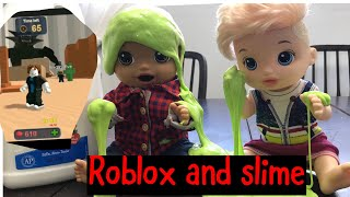 BABY ALIVE plays Roblox and makes slime baby alive Videos