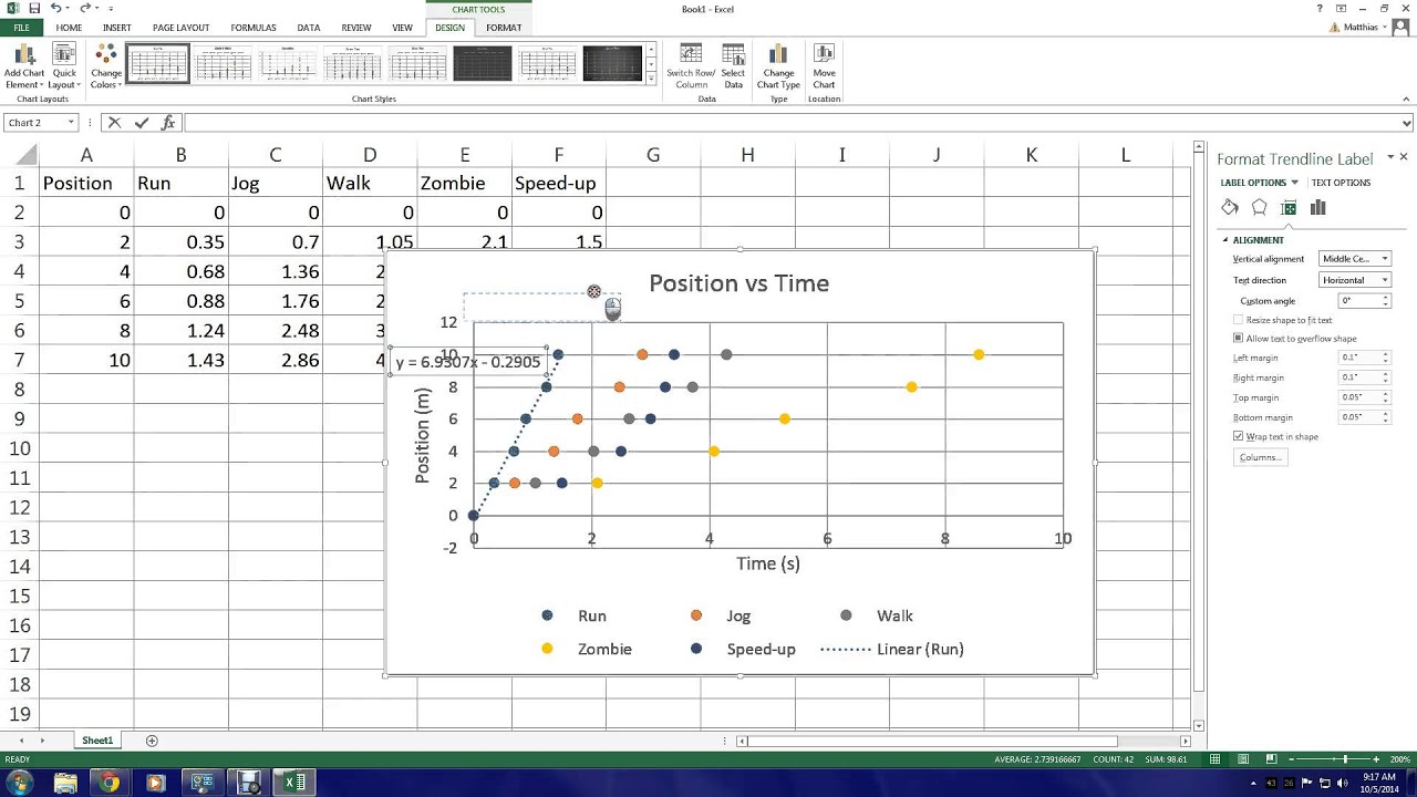 Excel 2013 Manually adding multiple data sets to scatter plot – Scatter Plot Worksheet