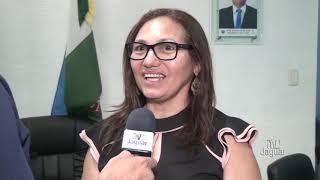 Secretária da junta de Serviço Militar Lindalva Oliveira fala sobre a solenidade de diplomação