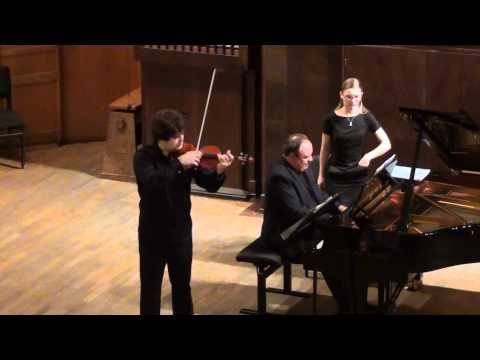 Ivan Pochekin (violin), Alexander Ghindin (piano). César Franck-Sonata A-dur (1886).
