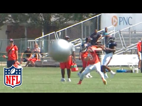 Bears throw Yoga Balls at their QBs during Training Camp | NFL