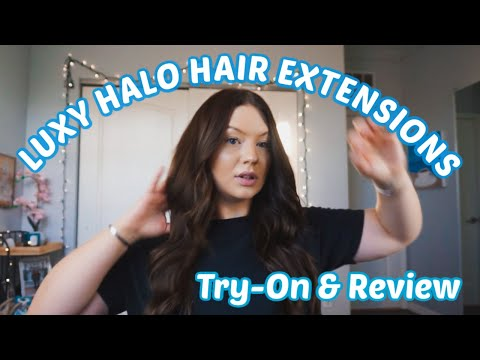 LUXY HALO HAIR EXTENSIONS Review \u0026 Try-On