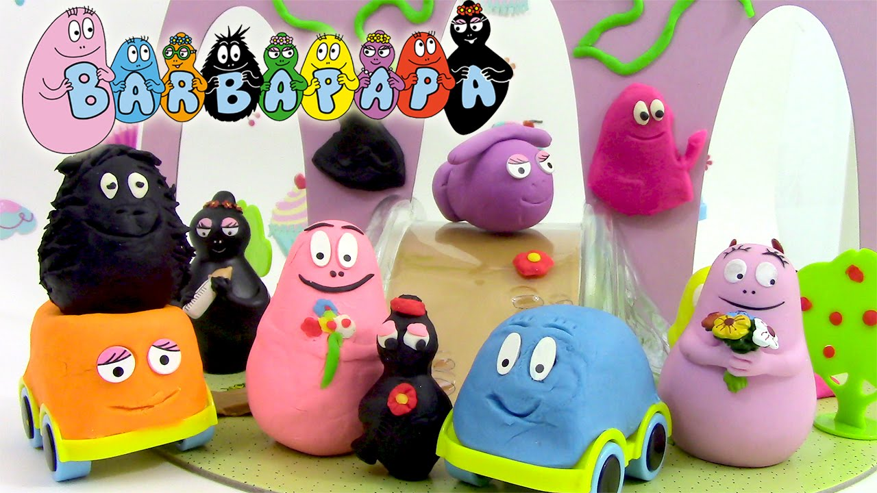 Barbapapa Pâte à modeler Voyages de Barbapapa Play dough Barbamodeler en français - YouTube