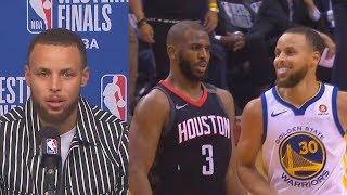 Stephen Curry Reacts To Chris Paul's Shimmy Dance On Him!