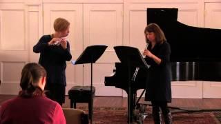 W.F. Bach: Duet No. 3 (II) - Ann Bobo, flute & Nancy Dimock, oboe