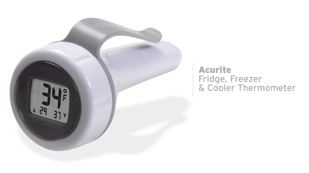 acurite digital fridge freezer and cooler thermometer 00290 youtube
