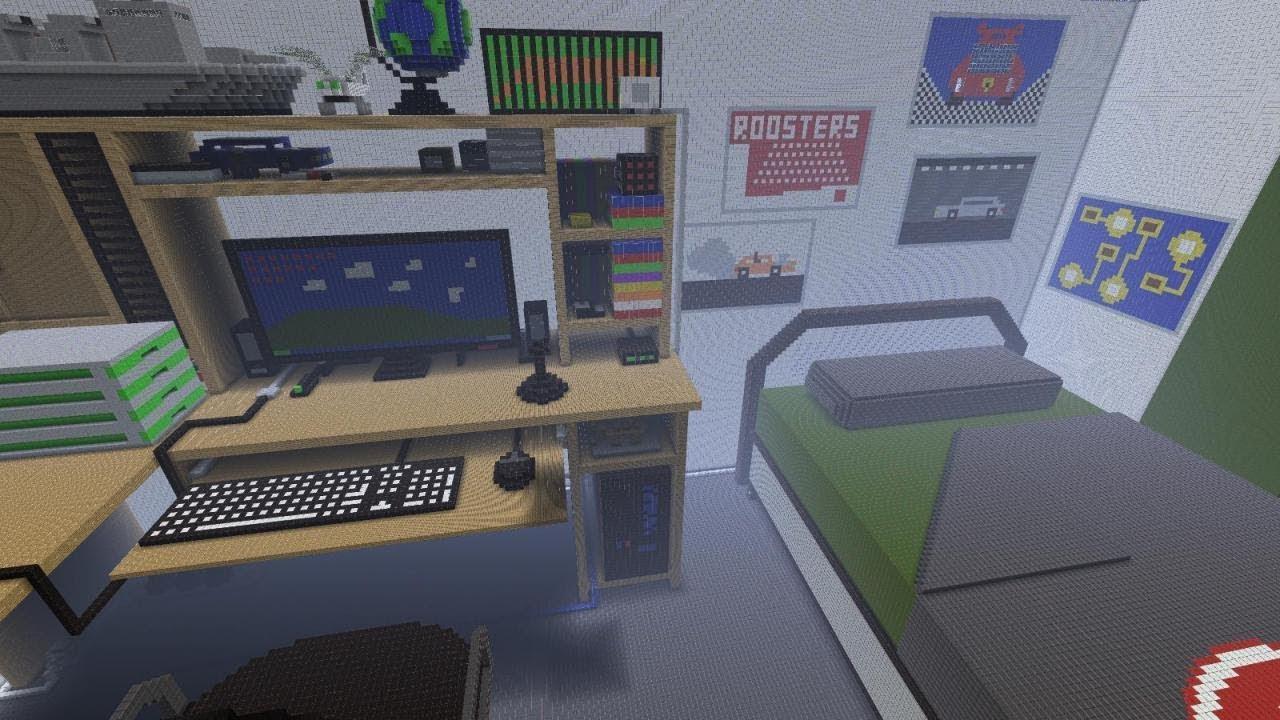 Giant Bedroom Parkour!   Minecraft