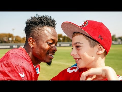 Make-A-Wish: Austin DeMello Joins 49ers for the Day
