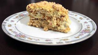 Киевский торт. Очень очень нежный и вкусный тортик!(Моя группа http://vk.com/gotovkadoma_ru Рецепт с картинками тут: http://gotovkadoma.ru/sladkaya-vyipechka/kievskiy-tort/, 2015-12-17T08:59:50.000Z)