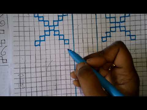 73. how to draw sindhi embroidery design...