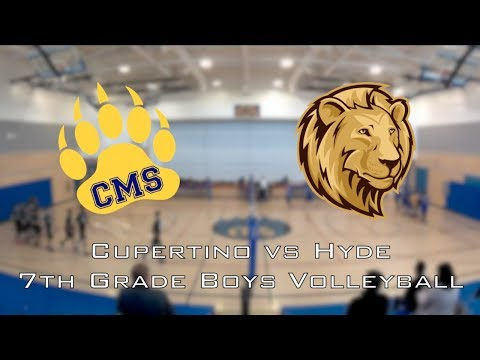 2018-01-30 Cupertino Middle School Boys Volleyball vs Hyde (no audio)