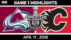 NHL Highlights | Colorado Avalanche vs Calgary Flames, Game 1 - Apr 11, 2019