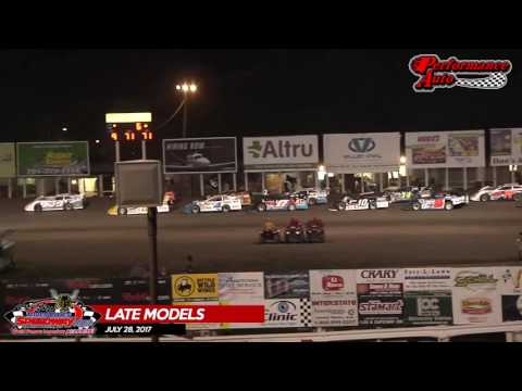 Performance Auto Late Model Highlights - July 28th, 2017 - River Cities Speedway