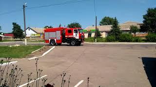Пожарный эскорт на свадьбе