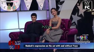 [ENG SUB] Nadech Expression With and Without Yaya On Lakorn Set   MMBT 23/9/16
